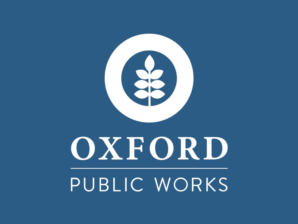 Oxford MS logo, public works dept, Oxford MS logo design